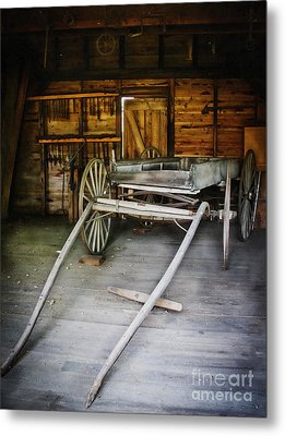 Hitch Your Wagon Metal Print by Colleen Kammerer