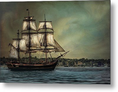 Hms Bounty Metal Print by Robin-Lee Vieira