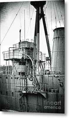 Hms Caroline Metal Print by Chris Cardwell