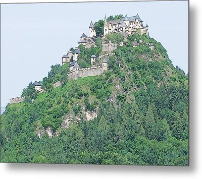 Metal Print featuring the photograph Hochosterwitz Castle Austria by Joseph Hendrix