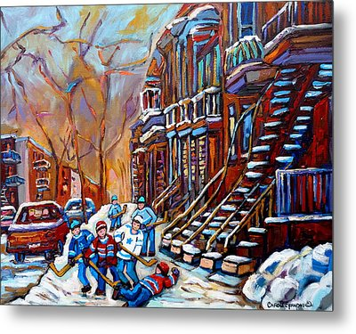 Hockey Art Montreal Streets Metal Print