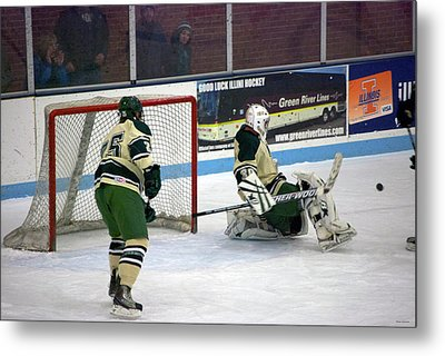 Hockey Off The Pads Metal Print by Thomas Woolworth