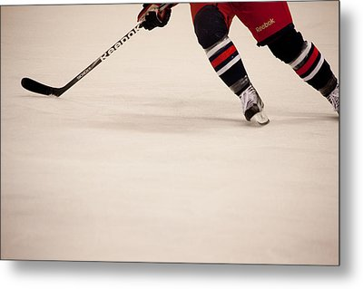 Hockey Stride Metal Print by Karol Livote