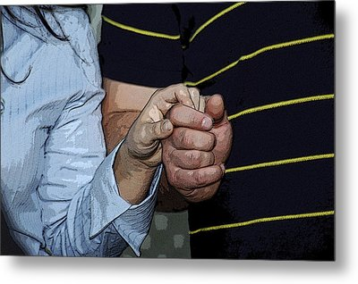 Holding Hands Metal Print by Carolyn Marshall