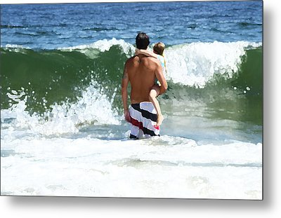 Holding On Metal Print by Maureen E Ritter