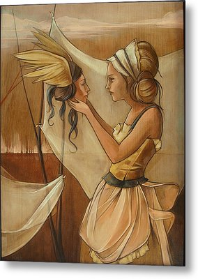 Holding On To Hard Metal Print by Jacque Hudson