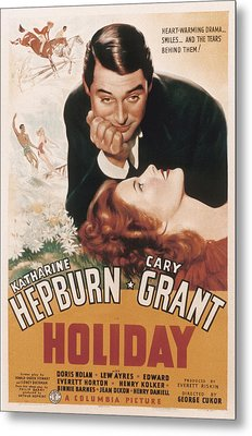 Holiday, Cary Grant, Katharine Hepburn Metal Print by Everett