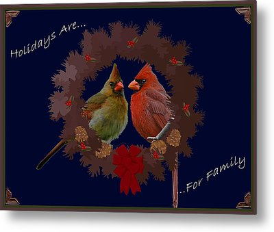 Holidays Are For Family Metal Print by DigiArt Diaries by Vicky B Fuller