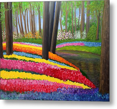 Holland Gardens Metal Print by Janet Greer Sammons