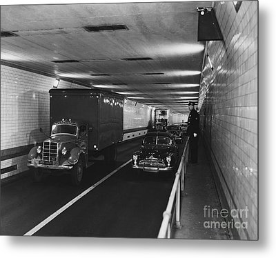 Holland Tunnel, Nyc Metal Print by Photo Researchers