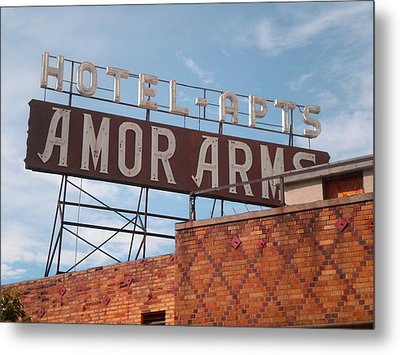 Hollywood Amor Arms Metal Print by Sandy Fisher