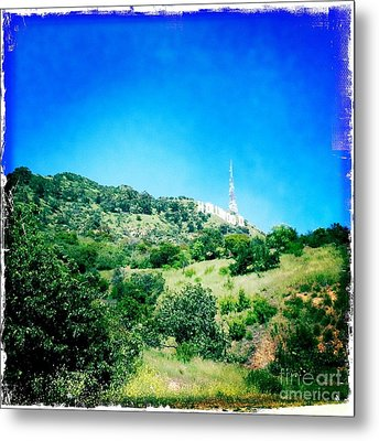 Metal Print featuring the photograph Hollywood by Nina Prommer