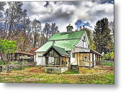 Holmes County Farm Metal Print by Tom Schmidt