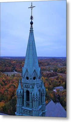Metal Print featuring the photograph Holy Hill Steeple  by Kristine Bogdanovich