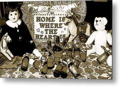 Metal Print featuring the photograph Home Americana Style by Pamela Hyde Wilson