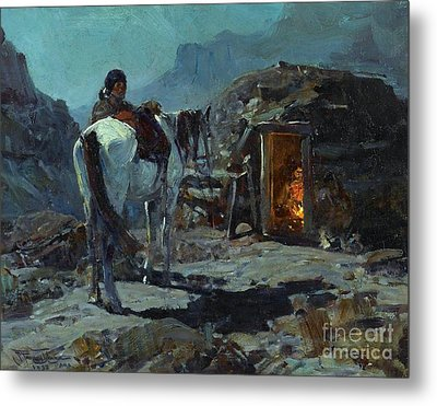 Home Of The Navajo Metal Print by Pg Reproductions