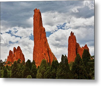 Home Of The Weather God - Garden Of The Gods - Colorado City Metal Print by Christine Till