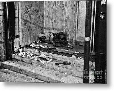 Homeless Metal Print by Paul Ward