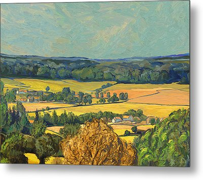 Hommage To Vincent Van Gogh - Zuid Limburg Metal Print by Nop Briex