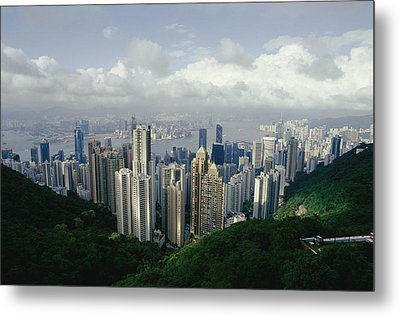 Hong Kong Island And The Bay Metal Print by Jason Edwards