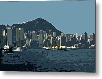Hong Kong Island ... Metal Print by Juergen Weiss