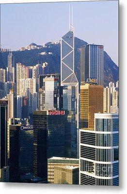 Hong Kong Skyline Looking Towards Victoria Peak Metal Print by Jeremy Woodhouse