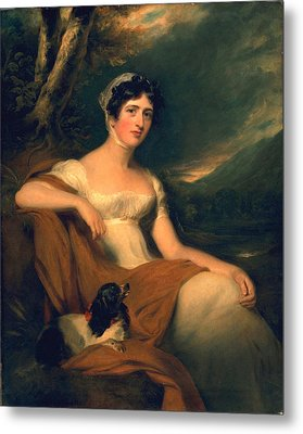 Honorable Emma Cunliffe Later Emma Cunliffe-offley Metal Print by Thomas Lawrence