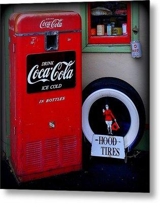 Hood Tires Cocacola Metal Print by Randall Weidner