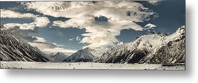 Hooker River In The Valley At Tasman Metal Print by Colin Monteath