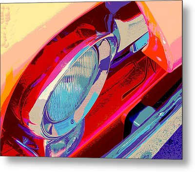 Hoots Crusin Central Metal Print by Chuck Re