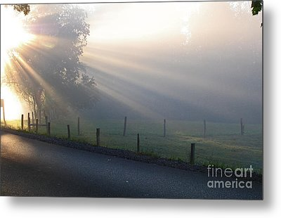 Hope Is In His Light Metal Print