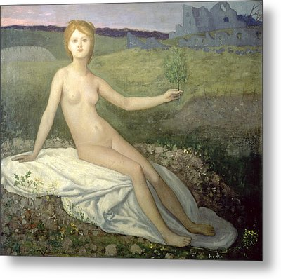 Hope Metal Print by Pierre Puvis de Chavannes
