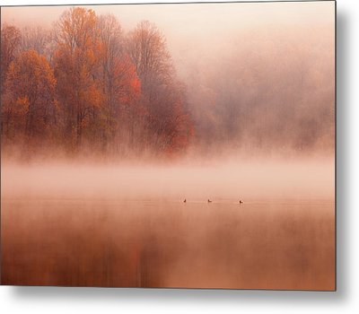 Hopewell Lake, French Creek State Park Metal Print by Michael Lawrence Photography