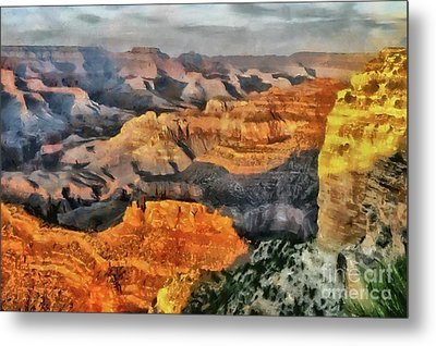 Hopi Point - Grand Canyon Sunset Metal Print
