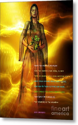 Metal Print featuring the digital art Hopi Prophecy by Shadowlea Is