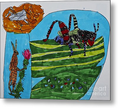 Hoppers And Crawlers Metal Print by Stephanie Ward