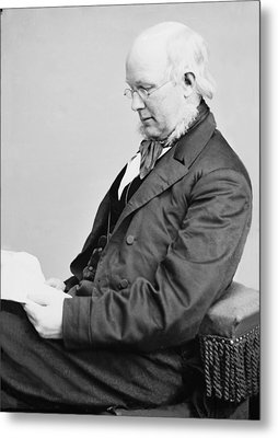Horace Greeley 1811-1872, Ca. 1860 Metal Print by Everett
