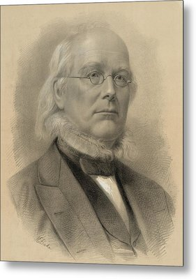 Horace Greeley 1811-1872, Ca. 1872 Metal Print by Everett