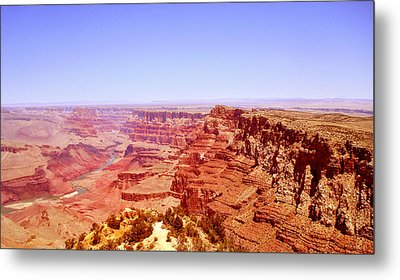 Metal Print featuring the photograph horizon in Grand Canyon by Rima Biswas