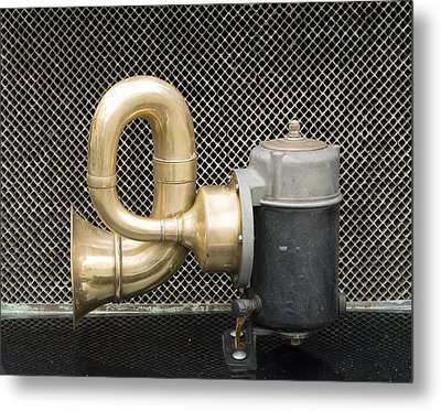 Horn Of Old Car Metal Print by Odon Czintos