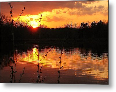 Horn Pond Sunset 8 Metal Print
