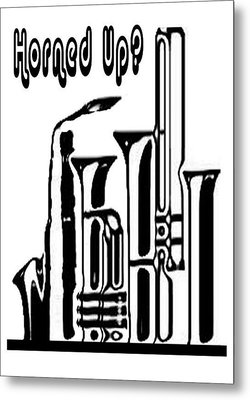 Hornz Card Metal Print
