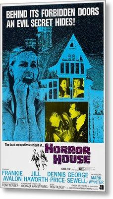 Horror House, Aka The Haunted House Of Metal Print by Everett