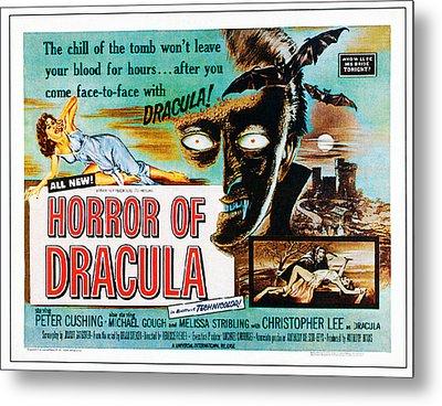 Horror Of Dracula, Poster Art, 1958 Metal Print by Everett