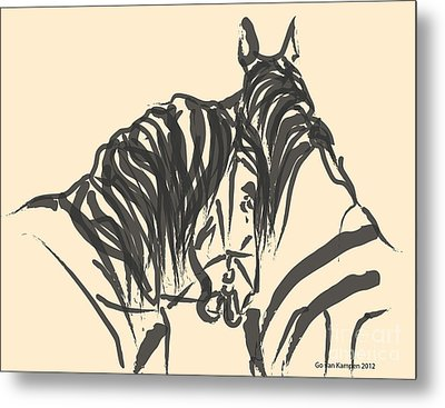 Horse - Together 9 Metal Print by Go Van Kampen