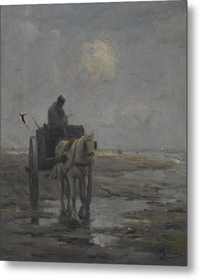 Horse And Cart Metal Print by Evert Pieters