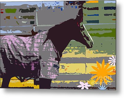 Horse Art For Children Metal Print by ArtyZen Kids