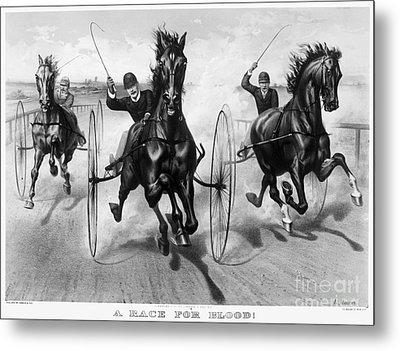 Horse Racing, 1890 Metal Print by Granger