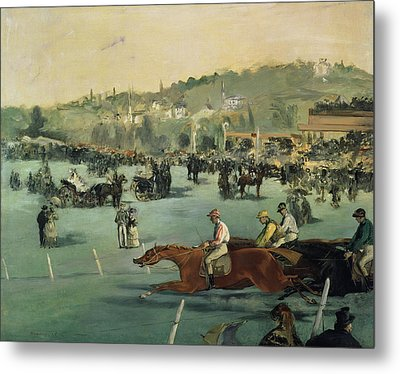 Horse Racing Metal Print by Edouard Manet