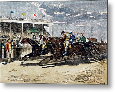 Horse Racing, Ny, 1879 Metal Print by Granger